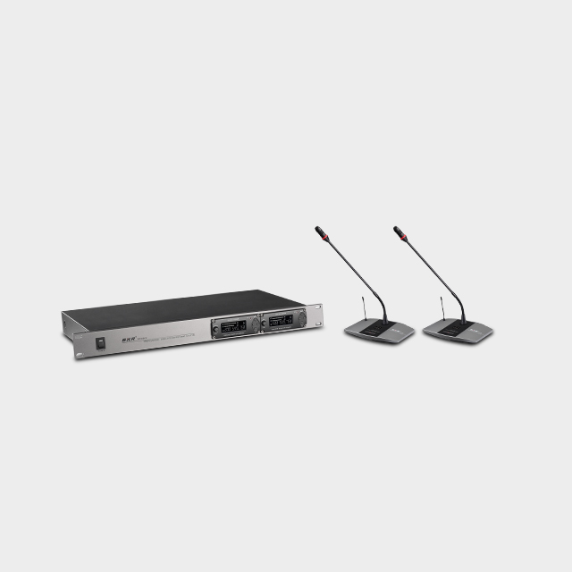 2CH UHF Wireless Conference Microphone System